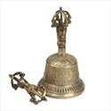 Nature's Artifacts Tibetan Bell with Dorji