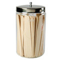 Stainless Steel & Glass Sundry Jar